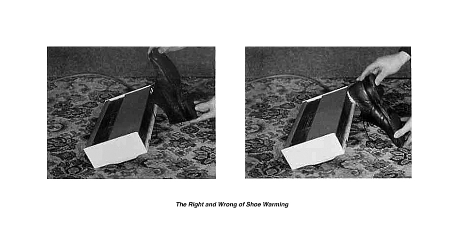Terry Bond, Terence Bond, 'The Right and Wrong of Shoe Warming' 1981